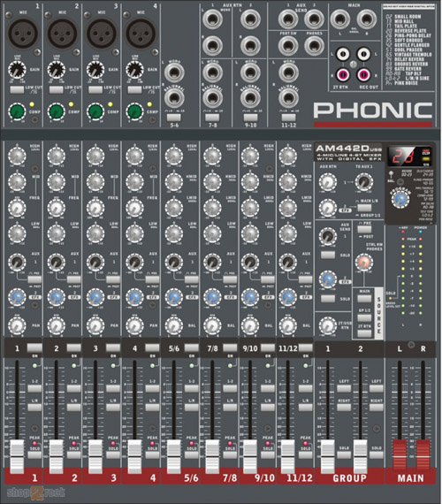 Микшерный пульт Phonic AM442D USB