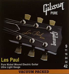 Струны для электрогитары Gibson SEG-LP9 LES PAUL PURE NICKEL WOUND (A001569)