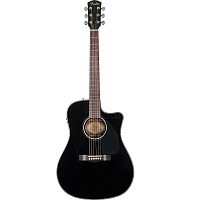 Электроакустическая гитара Fender CD-60CE BLACK